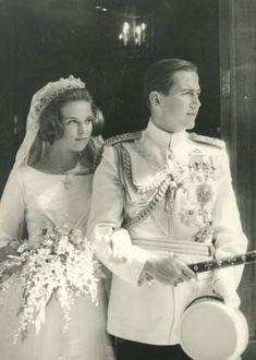 Constantino de Grecia y Ana María de Dinamarca. 18 de Septiembre de 1964