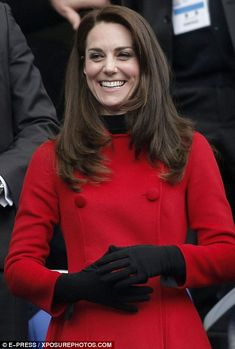 Catherine, Duchess of Cambridge attends the RBS Six Nations match between France and Wales at the Stade de France on March 18, 2017 in Paris, France.