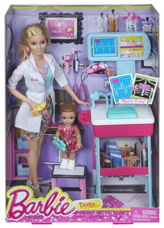 Mattel Barbie Careers Pediatrician Doll and Playset