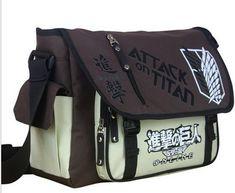 Attack on Titan Sling Pack School Messenger Travel Bag //Price: $33.59 & FREE Shipping //   #naruto #anime