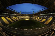 Signal Iduna Park in Dortmund, Germany Soccer Stadium, Football Stadiums, Football Soccer, Football Tops, Football Pitch, Football Is Life, Bvb Fan, Signal Iduna, Leonel Messi