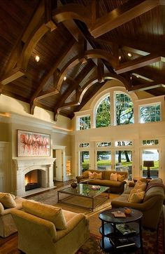 I love the beams showing on the ceiling!