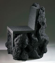 volcanic rock chair by ian blasco