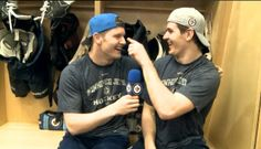 Trouba #8 and Scheifele #55 singing High School Musical... no ,seriously. They were...