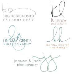 Handwritten Initials Custom Logo photoshop brush by PixelPolish, $56.50
