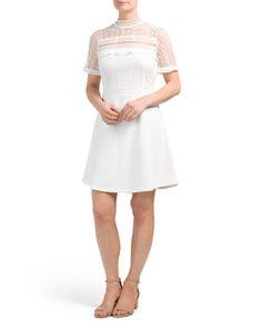 437d2c8b29f Crochet Lace Fit   Flare Dress - The Wedding Shop - T.J.Maxx