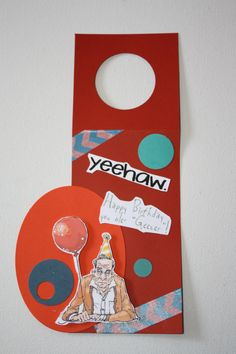 Masculine Birthday gift tag, hostess gift tag, wine bottle hanger, bottle topper, handmade, old geezer, One of a Kind, Cowboy, hand painted by MamaGuccis on Etsy