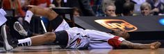 Louisville guard, Kevin Ware broke his bone on a nationally televised game. The sequence was played over and over on live television. Many sports reporters questioned whether it should have been shown or not.  http://petapixel.com/2013/04/16/a-blurry-double-standard-a-photo-from-the-boston-marathon-bombing/