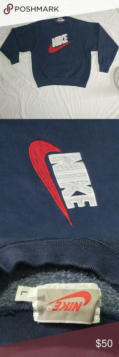 Vintage NIKE Spellout Sweatshirt! Vintage NIKE Spellout Sweatshirt! Excellent Condition! Size Large! #streetwear Nike Shirts Sweatshirts & Hoodies