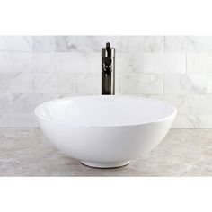 Shop for Round Vitreous China Above-Counter Vessel Sink. Get free shipping  at Overstock