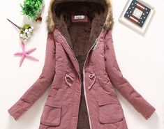 65417e336d3 Winter Coat Women 2018 New Parka Casual Outwear Military Hooded Thickening  Cotton Coat Winter Jacket Women Fur Clothes