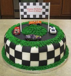 boys birthday cakes images   Race Car Track Birthday Cake — Birthday Cakes