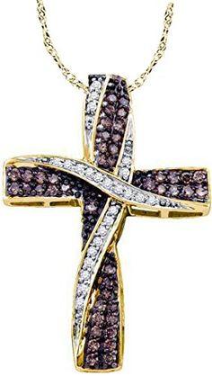 #stpatricksdaychallenge 14k Yellow Gold Cognac-brown Colored Diamond Roman Cross Christian Womens Pendant 18″ Chain .55 Ct.t.w. by Wholesale Findings Jewelry - See more at: http://blackdiamondgemstone.com/colored-diamonds/jewelry/necklaces/pendants/14k-yellow-gold-cognacbrown-colored-diamond-roman-cross-christian-womens-pendant-18-chain-55-cttw-com/#sthash.vjxexASx.dpuf
