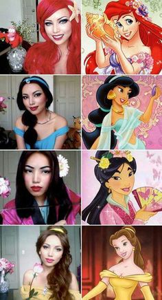 Disney princesses...possible halloween costumes :)
