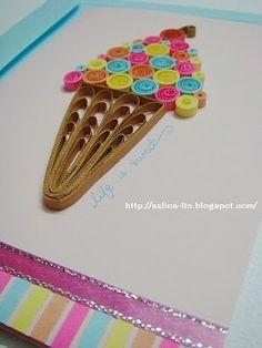 Lin Handmade Greetings Card: Life is sweet Quilling Blog Hop