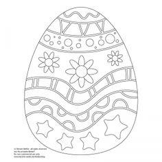 Osterei Malvorlage / Easter Egg Coloring Page