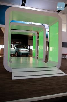 The new display was part of a highly successful launch that positioned the cube as something new that fit perfectly with a new generation of techno-savvy Nissan buyers.