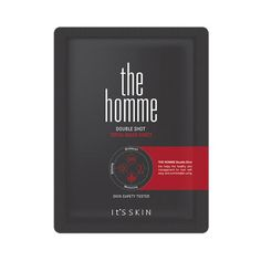 Its skin The Homme Double Shot Универсальная тканевая маска для ухода за мужской кожей, It's skin, Листовая маска|Кореядепарт