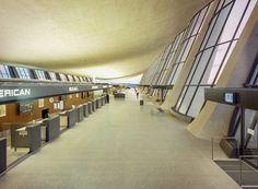 Eero Saarinen Dulles Int. Airport, VA. Via Corners of the 20th Century