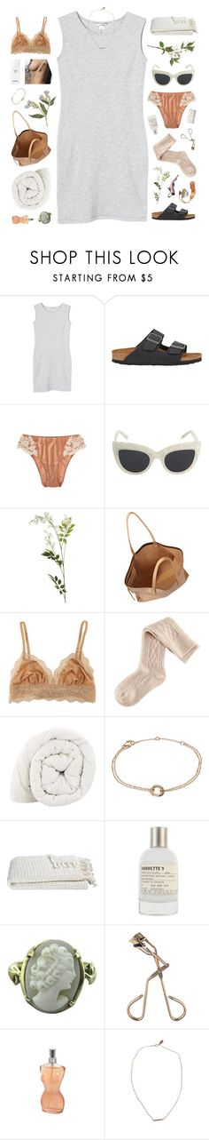 """""""~ cause when you call my heart starts to roll, i always want more, it's my heaven, my hell."""" by annamari-a ❤ liked on Polyvore featuring Monki, Birkenstock, La Perla, Sabre Vision, OKA, Chloé, Cosabella, H&M, Crate and Barrel and Le Labo"""