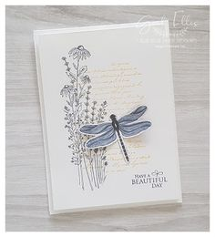 Blue Rose Paper Treasures: Dragonfly Garden Cards Sympathy Cards, Greeting Cards, Stampin Up Catalog, Stamping Up Cards, Flower Cards, Creative Cards, Making Ideas, Cardmaking, Birthday Cards