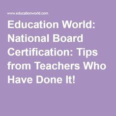 Education World: National Board Certification: Tips from Teachers Who Have Done… National Board Teacher Certification, Internet Safety For Kids, First Day Activities, How To Handle Stress, Education World, Teacher Boards, School Teacher, Teacher Stuff, Teaching Math
