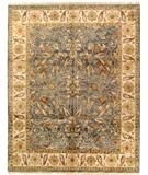 RugStudio presents Due Process Thana Oushak Light Blue-Cream Hand-Knotted, Best Quality Area Rug