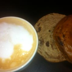Starting my day @ Madalyns Coffee & Tea with a Vanilla Latte and a Cinnamon Raisin Bagel. Get yours today!