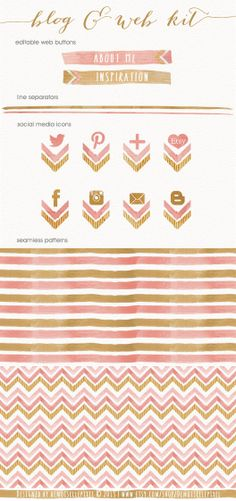 A pretty watercolor chevron design makeover kit for your blog and websites: https://www.etsy.com/listing/160274031/web-blog-design-kit-social-media-icons?ref=shop_home_active