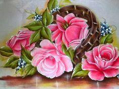 Como pintar rosa com passarinho. - YouTube