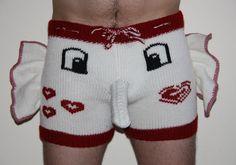 Sexy Shorts Trousers Handmade, Men, Present, Gift Underwear (elephant pattern)