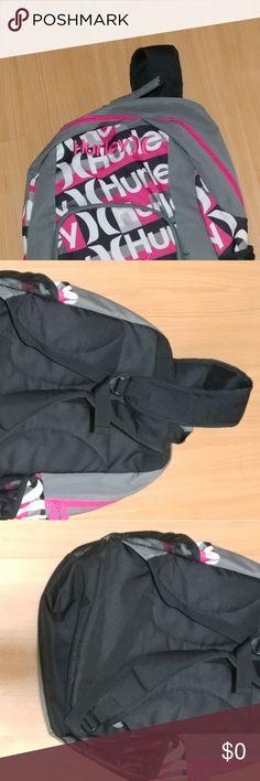Hurley Backpack Black/Pink/Gray Backpack Hurley Accessories Bags