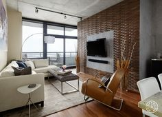 A Chicago Couple's Downtown Loft Revamp - Fun times with wall tiles and Carrera marble. - @Homepolish Chicago