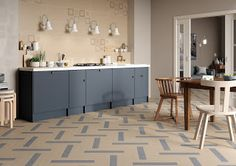 DADA TILE & MARBLE: DENIM - the new porcelain textile by Rondine