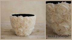 Rosette Bowl DIY inspo, for a newborn photo prop or just for the home, maybe an indoor plant pot...