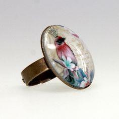 lijelove verstellbare Ringe, 04-00SF, Rosenkönig III, bunt, Cabochon 25 mm - Ringgröße 54 - 60 - http://schmuckhaus.online/lijelove/lijelove-verstellbare-ringe-04-00sf-rosenkoenig