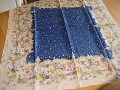 tafelkleed, zijdeverf
