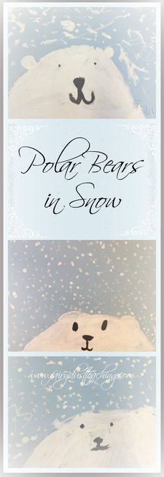 Bears in Snow Polar Bears in Snow Art Project! Get the step-by-step how to from Fairy Dust Teaching.Polar Bears in Snow Art Project! Get the step-by-step how to from Fairy Dust Teaching. Animal Art Projects, Winter Art Projects, Kindergarten Art Lessons, Art Lessons Elementary, Fairy Dust Teaching, Teaching Art, Arte Inuit, Atelier D Art, Snow Art