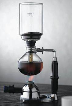 Hario Syphon Vaccum Coffee Maker.  Uses differential pressures to make the perfect cup of coffee..
