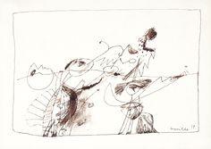 Figuur 2 - Corneille - 1949  Maat: 17cm x 26cm  Materiaal: oost-indische inkt op papier  Inventarisnummer: K67313