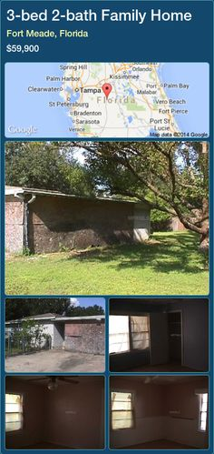 3-bed 2-bath Family Home in Fort Meade, Florida ►$59,900 #PropertyForSaleFlorida http://florida-magic.com/properties/54236-family-home-for-sale-in-fort-meade-florida-with-3-bedroom-2-bathroom