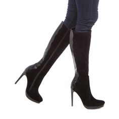 Aurora - ShoeDazzle - Pretty black boots, perfect for fall!