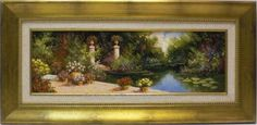 Salinas : Gardens. Medium: Oil on canvas Measurements (cm): 78x38 Canvas measurements (cm): 60x20 Interior frame: Yes. Light, colour, harmony, composition, etc. It has all the ingredients necessary to create a work of quality.  $351.50