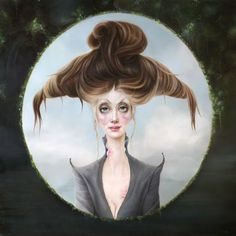 """Love this new work by Sarah Dolby """"Great Expectations"""" oil on aluminum. 2016 by beautifulbizarremagazine Famous Artists, Great Artists, Different Art Styles, Great Expectations, Pop Surrealism, Modern Artists, Big Eyes, Art Google, New Work"""