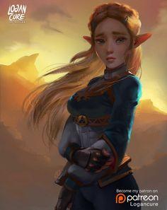 BoTW - Zelda by logancure