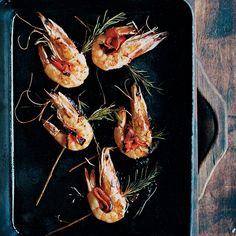 Rosemary-Skewered Shrimp Recipe - Francis Mallmann | Food & Wine