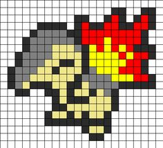 Pokemon Feurigel bead pattern - other character patterns available.