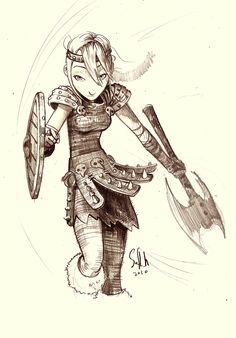 How to Train your Dragon - Astrid ~soft-h on deviantART