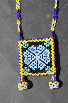 Specializing in rare selected Mexican Folk Art and Crafts and prehispanic instruments Mandala, Mexican Folk Art, Bead Weaving, Beadwork, Loom, Squares, Arts And Crafts, Inspire, Beads