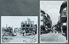 Unieke panoramafoto toont verwoest Rotterdam - AD.nl De Westewagenstraat voor 14 mei '40 en erna. In het fotoboek zitten meerdere ansichtkaarten van Rotterdamse straten, met ernaast opnames die na het bombardement zijn gemaakt. © Collectie Hans Nieuwenhuijsen.
